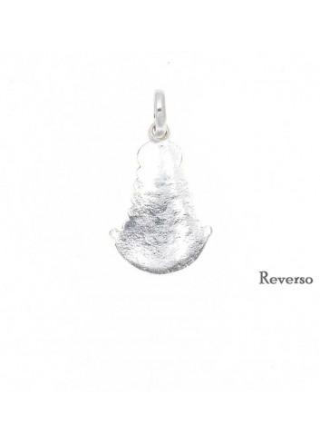 Medalla Virgen del Rocío plata 17x30