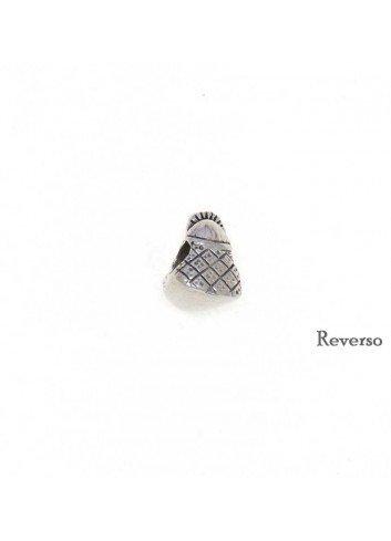 Abalorio Virgen del Rocío plata para pulsera