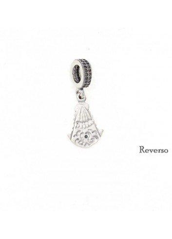 Abalorio Virgen del Rocío colgante plata para pulsera