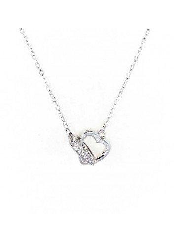 colgante 2 corazones plata circonitas enlazados sueltos