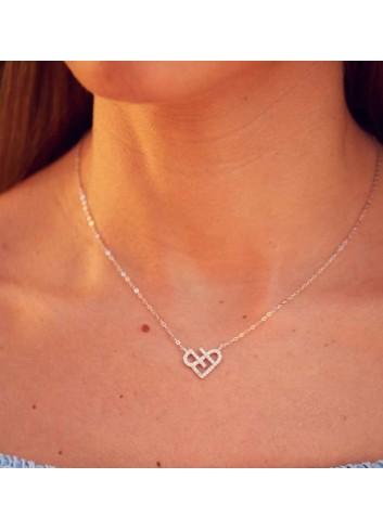 corazon-infinito-colgante gargantilla plata-circonitas