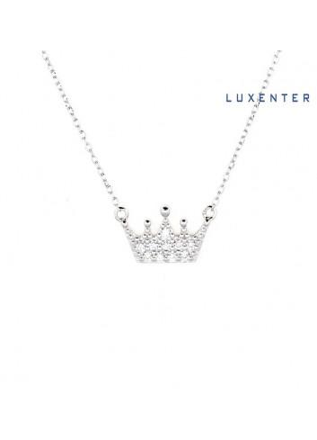 gargantilla-colgante-corona-circonitas-luxenter-plata