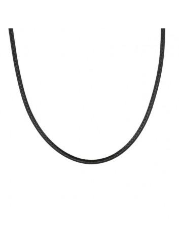 cordon-encerado-45-cm largo-2mm-negro