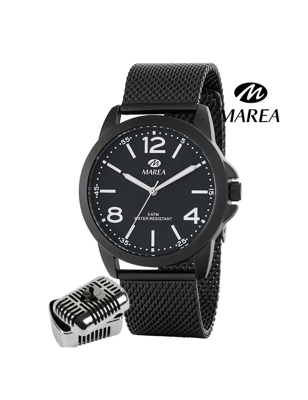 zapatillas de deporte para baratas 3ee91 e88a4 Reloj Marea Manuel Carrasco cadena malla hombre B41219-3 negro