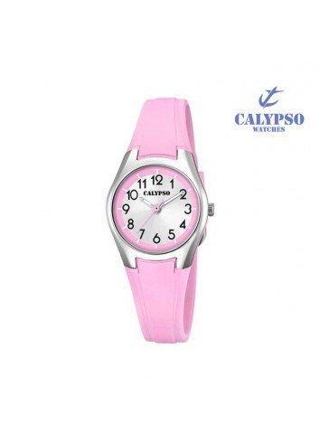 Reloj Calypso niña goma rosa redondo K5750-4