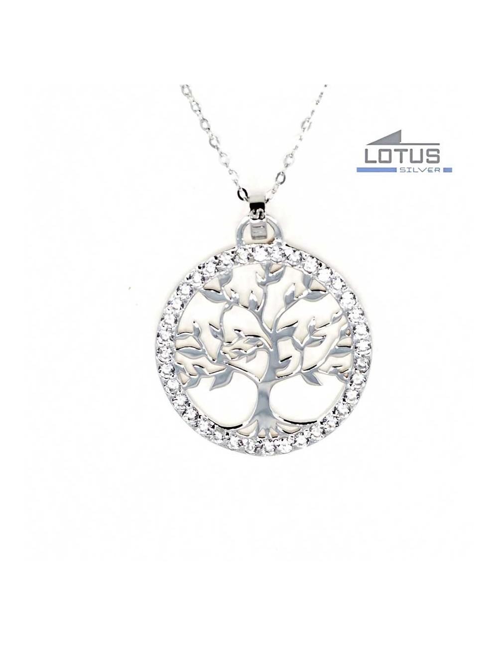 498c73c2b87c Gargantilla Lotus Silver árbol de la vida circonitas LP1746-1-1