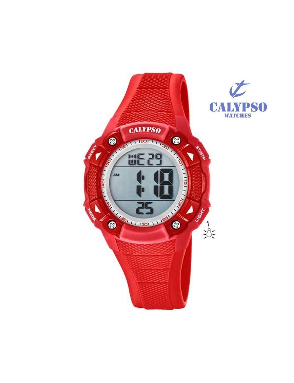 6992f80b4268 Reloj Calypso niño niña digital caucho rojo K5728-3