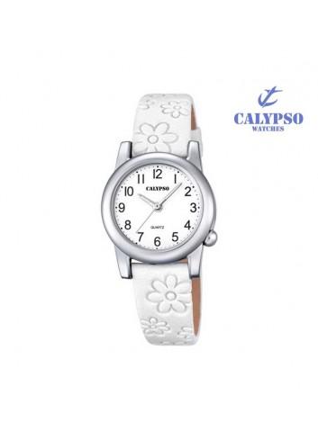 reloj-calypso-nina-piel-blanca-flores-redondo-k5710-1