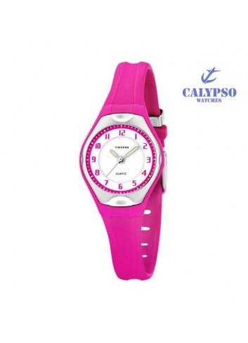 reloj-calypso-goma-rosa-sumergible-k5163-k