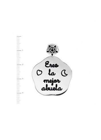 """Medalla """"LA MEJOR MAMÁ""""  con corazones de plata"""