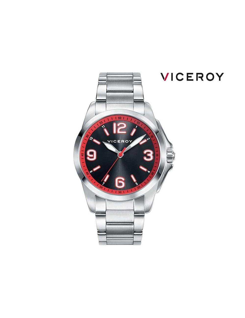 fb7e5fc5166c Reloj niño Viceroy cadena esfera negra 42267-54 redondo