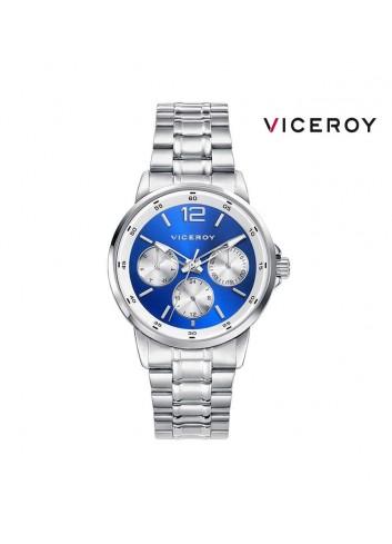 Reloj niño Viceroy multifunciones esfera  azul blanca 401097-35