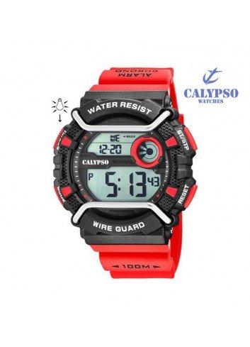 reloj-calypso-hombre-digital-rojo-silicona-k57642