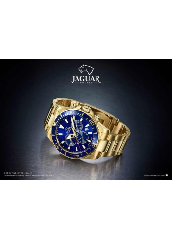 Reloj Jaguar hombre diver azul chapado cronografo bisel J864-2