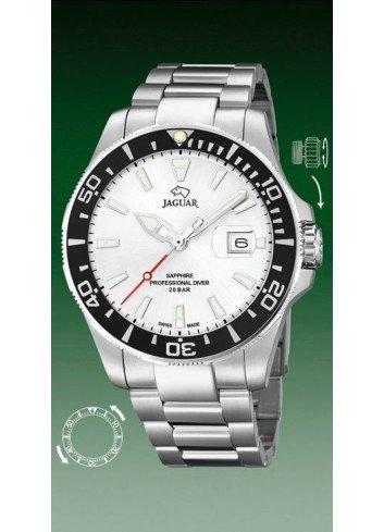 Reloj Jaguar hombre diver blanco bisel J860-1