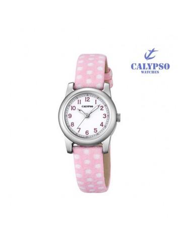reloj-calypso-nina-rosa-lunares-k57132