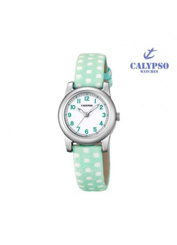 reloj-calypso-nina-verde-lunares-k57133