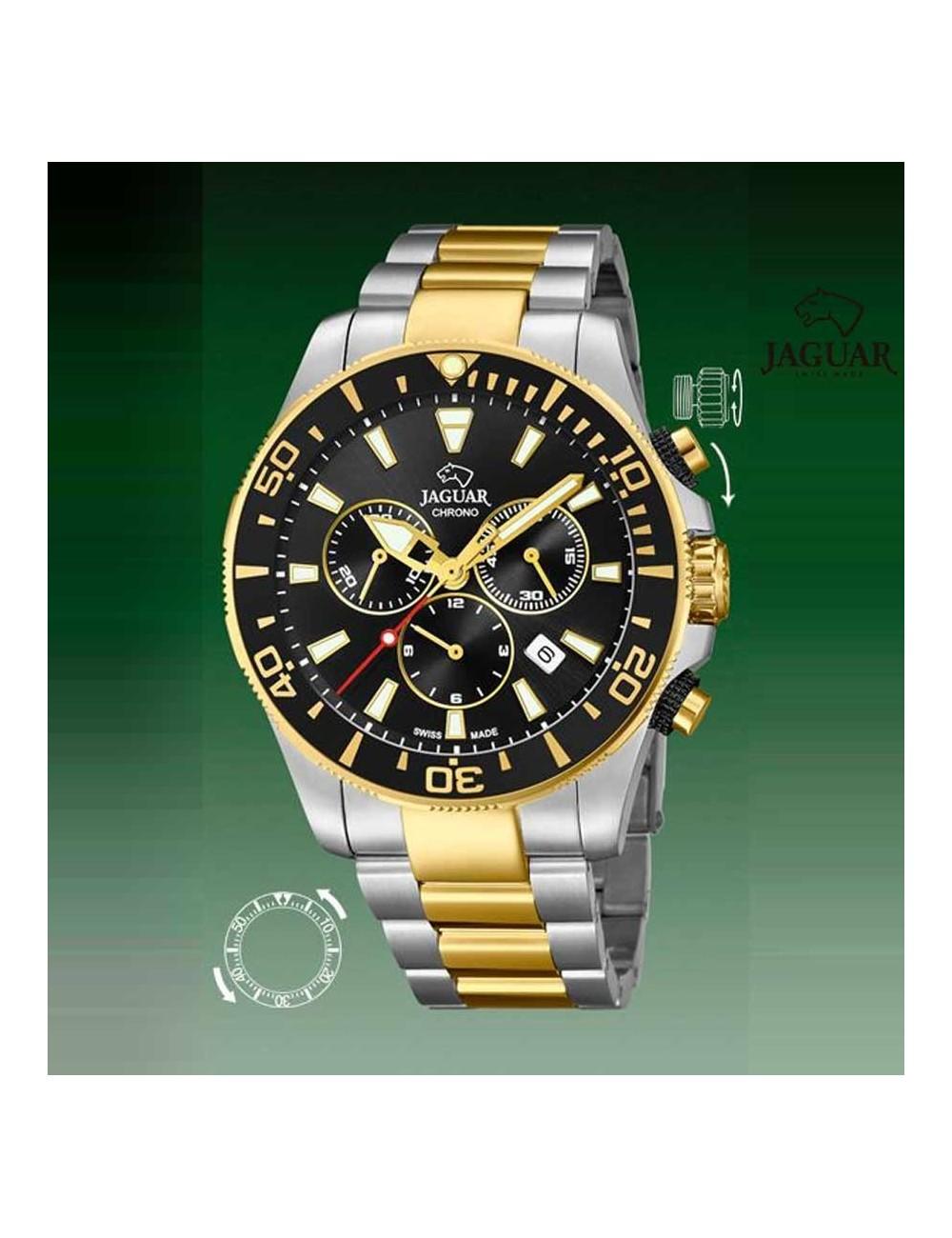 858903c7e33c Reloj Jaguar hombre diver negro bicolor cronografo bisel J862-2
