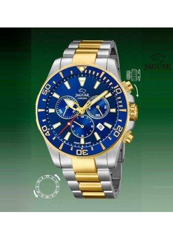 Reloj Jaguar hombre diver azul bicolor cronografo bisel J862-1