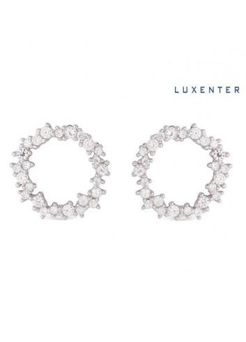 pendientes-circulo-circonitas-luxenter-plata