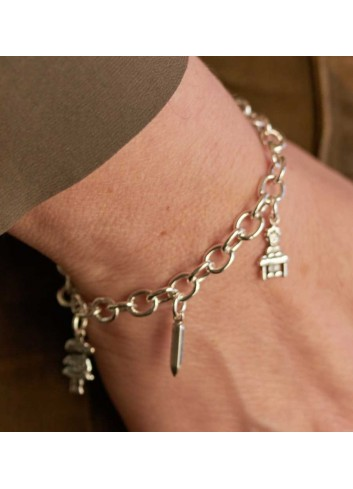 pulsera-de-la-seno-maestra-colgantes-plata
