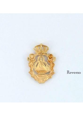 Medalla Virgen Cabeza oro angeles corona mediana