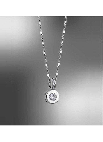 Gargantilla circonita con cadena diseño plata Lotus Silver LP1546-1/1