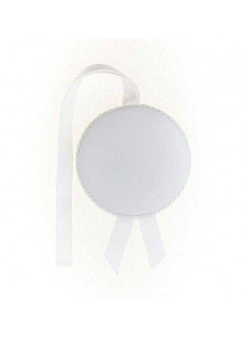 Medalla cuna Virgen de la Cabeza polipie blanca musical