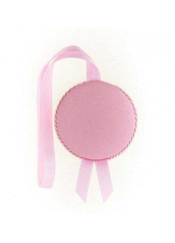 Medalla cuna Virgen de la Cabeza polipie rosa musical
