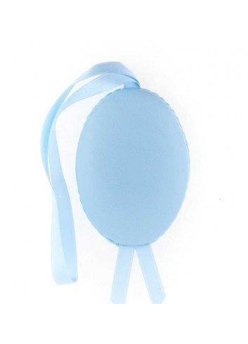 Medalla cuna Virgen de la Cabeza polipie oval azul musical