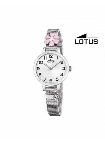 Reloj niña Lotus cadena malla flor rosa 18661-2