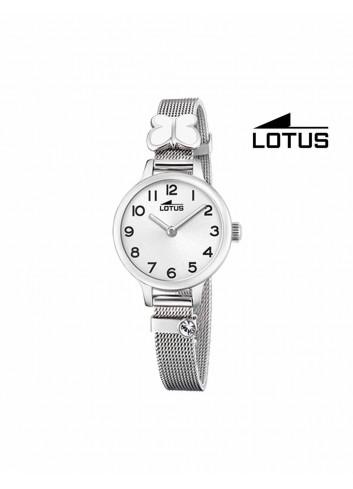 Reloj niña Lotus cadena malla mariposa blanca 18660-1