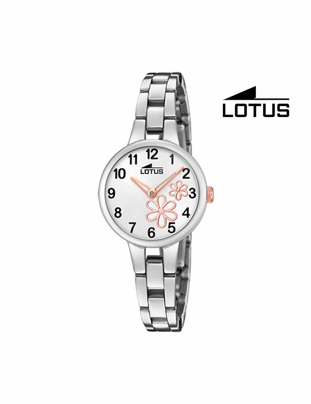 Reloj niña Lotus cadena flores 18658-3