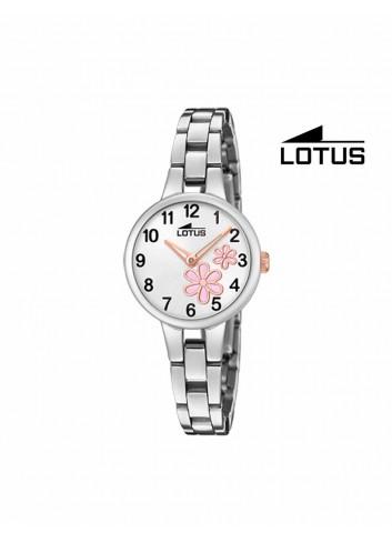 Reloj niña Lotus cadena flores rosas 18658-4