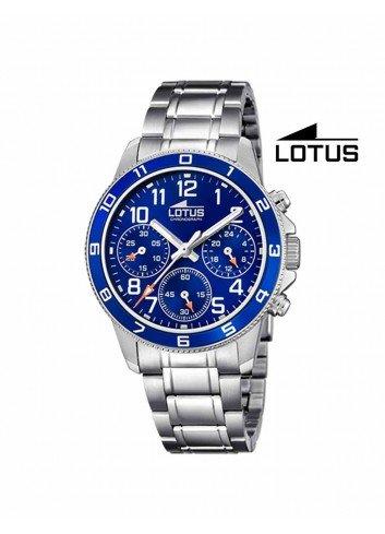 Reloj niño Lotus cadena esfera azul crono 18580-2 redondo