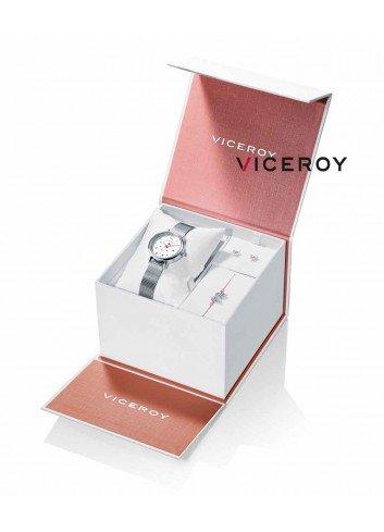 Reloj niña Viceroy cadena esfera piedras rosas regalo pulsera