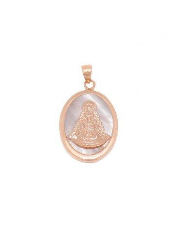 medalla-virgen-del-rocio-oval-plata-chapada-oro-rosa-nacar
