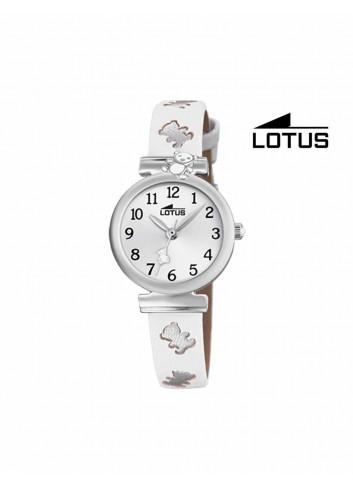 Reloj niña Lotus correa blanca oso 18628-1