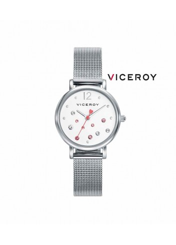 Reloj niña Viceroy cadena esfera piedras rosas 401074-05