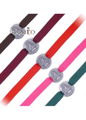 Pulseras cinta con medalla Virgen de la Cabeza