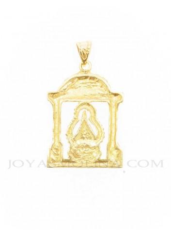 Medalla Virgen Cabeza oro andas  reverso