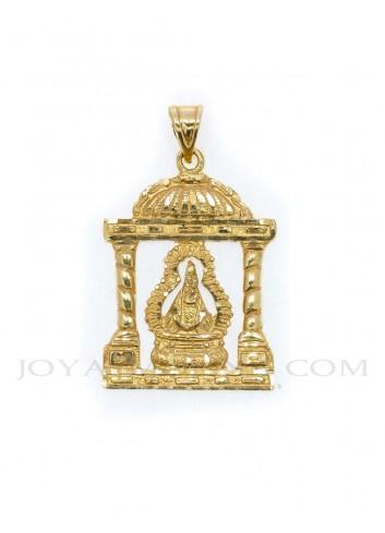 Medalla Virgen Cabeza oro andas templete