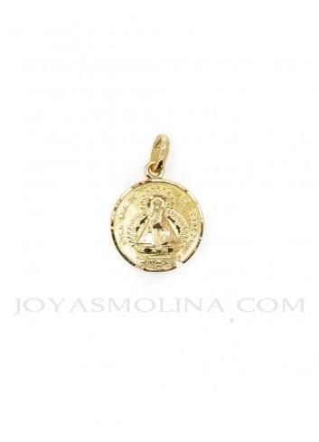 Medalla Virgen Cabeza oro escapulario