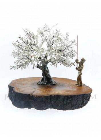 Olivo metal plata con vareador