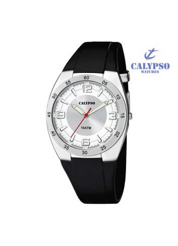 Reloj Calypso hombre goma negro redondo K5753-1