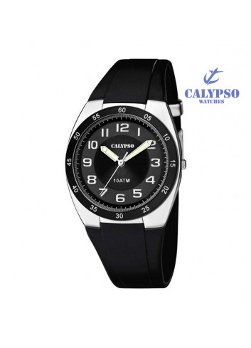 Reloj Calypso hombre goma negro sumergible K5753-6