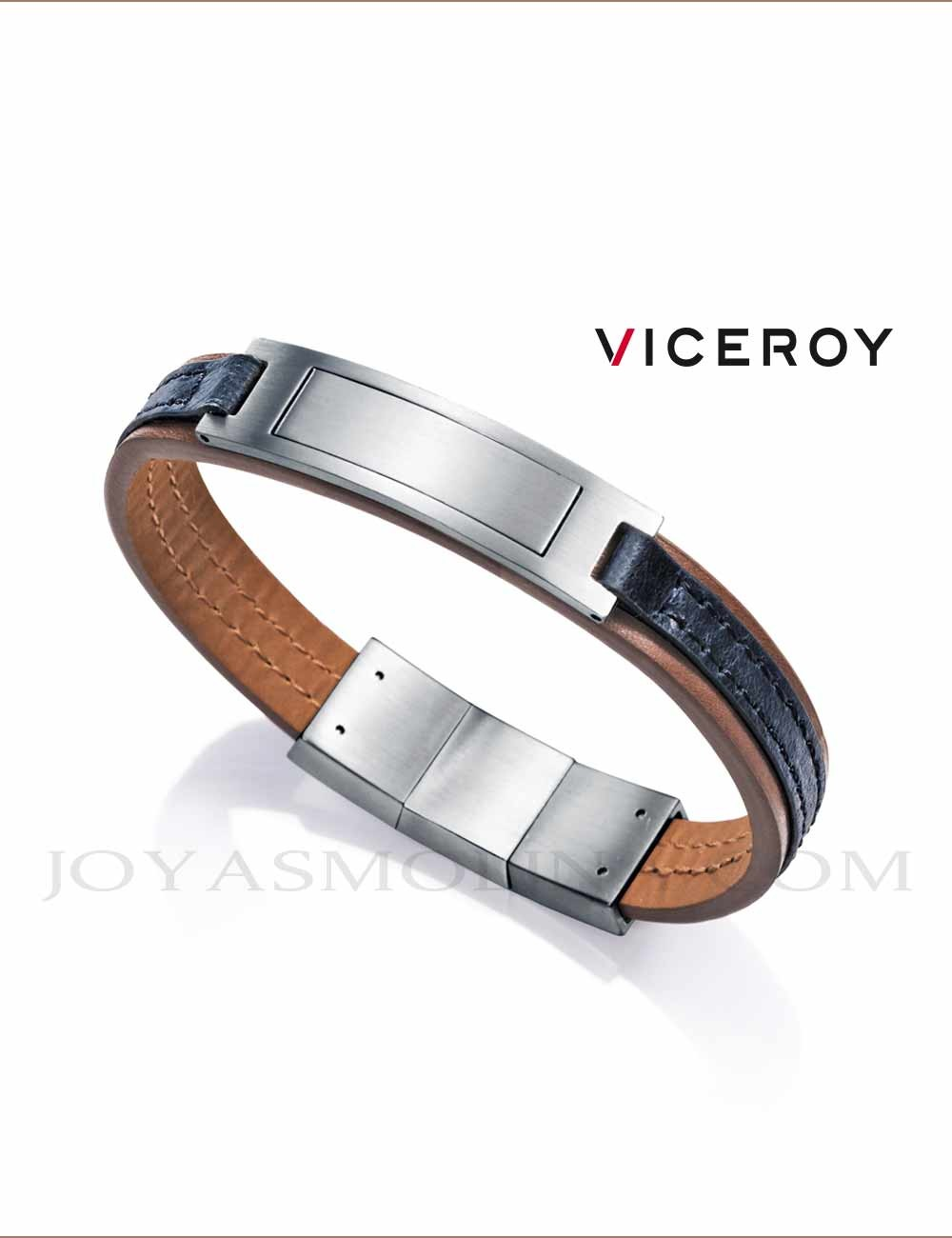 Super baratas nuevos productos para apariencia elegante Pulsera Viceroy hombre piel 75064P01019 personalizable