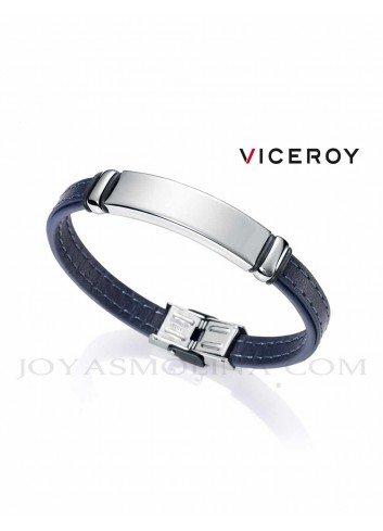 Pulsera Viceroy hombre piel azul 6371P09013 personalizable