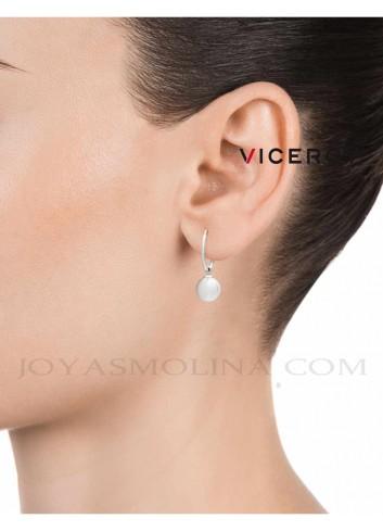Aros Viceroy plata colgante perla