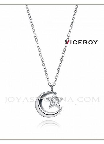 Gargantilla Viceroy plata luna estrella 5061C000-38